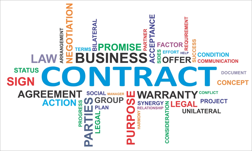 Contract with business words