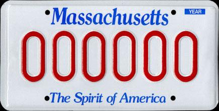 Spirit of America MA Plate