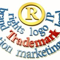 Trademark words around IP R symbol